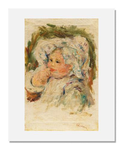 MFA Prints archival replica print of Pierre-Auguste Renoir, Portrait of a Young Child from the Museum of Fine Arts, Boston collection.