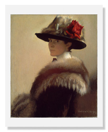 MFA Prints archival replica print of Gretchen Woodman Rogers, Woman in a Fur Hat from the Museum of Fine Arts, Boston collection.