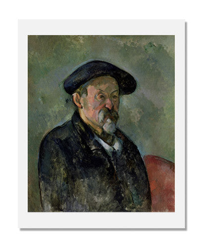 MFA Prints archival replica print of Paul Cézanne, Self Portrait with a Beret from the Museum of Fine Arts, Boston collection.