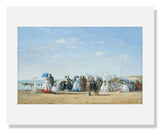MFA Prints archival replica print of Eugène Louis Boudin, Fashionable Figures on the Beach from the Museum of Fine Arts, Boston collection.