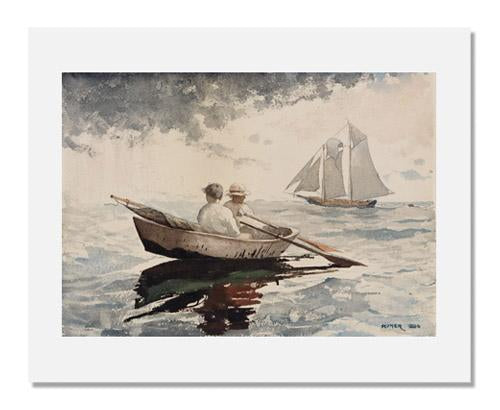 MFA Prints archival replica print of Winslow Homer, Two Boys Rowing from the Museum of Fine Arts, Boston collection.