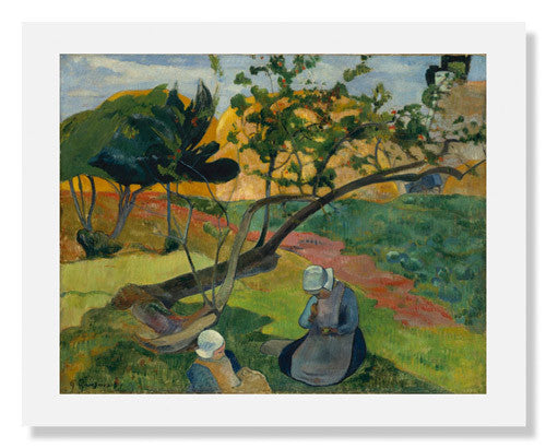 MFA Prints archival replica print of Paul Gauguin, Landscape with Two Breton Women from the Museum of Fine Arts, Boston collection.