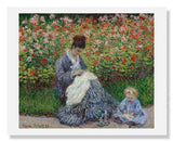 MFA Prints archival replica print of Claude Monet, Camille Monet and a Child from the Museum of Fine Arts, Boston collection.