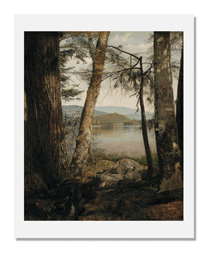 MFA Prints archival replica print of William James Stillman, Study on Upper Saranac Lake from the Museum of Fine Arts, Boston collection.