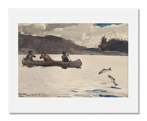 Winslow Homer, Fishing for Ouananiche, Lake St. John, P.Q. Canada, no.2