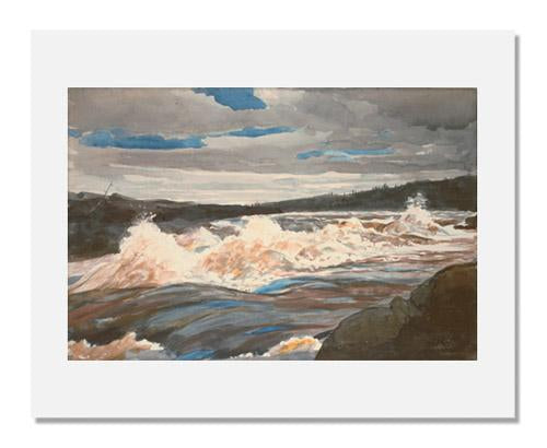 MFA Prints archival replica print of Winslow Homer, Grand Discharge, Lake St. John, Province of Quebec from the Museum of Fine Arts, Boston collection.