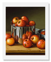 MFA Prints archival replica print of Levi Wells Prentice, Apples in a Tin Pail from the Museum of Fine Arts, Boston collection.