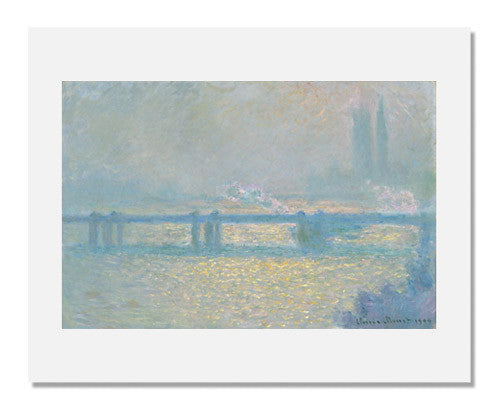 MFA Prints archival replica print of Claude Monet, Charing Cross Bridge (overcast day) from the Museum of Fine Arts, Boston collection.