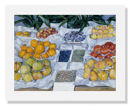MFA Prints archival replica print of Gustave Caillebotte, Fruit Displayed on a Stand from the Museum of Fine Arts, Boston collection.