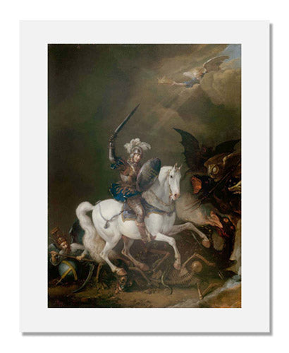 MFA Prints archival replica print of Philips Wouwerman, Knight Vanquishing Time, Death, and Monstrous Demons from the Museum of Fine Arts, Boston collection.