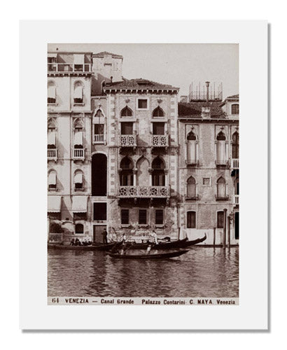 MFA Prints archival replica print of Carlo Naya, Canal Grande Palazzo Contarini, Venice from the Museum of Fine Arts, Boston collection.