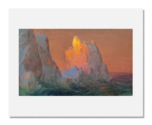 MFA Prints archival replica print of Frederic Edwin Church, Icebergs from the Museum of Fine Arts, Boston collection.
