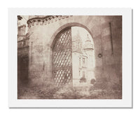 MFA Prints archival replica print of William Henry Fox Talbot, Entrance Gate, Abbotsford from the Museum of Fine Arts, Boston collection.