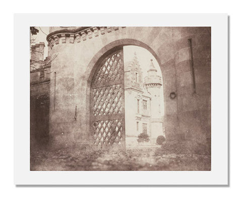 William Henry Fox Talbot, Entrance Gate, Abbotsford