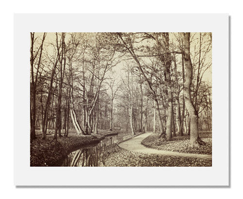 Charles Marville, Path in the Bois de Boulogne