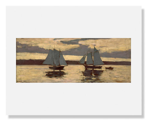 Winslow Homer, Gloucester, Mackerel Fleet at Sunset