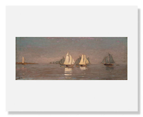 MFA Prints archival replica print of Winslow Homer, Gloucester, Mackerel Fleet at Dawn from the Museum of Fine Arts, Boston collection.