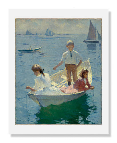 MFA Prints archival replica print of Frank Weston Benson, Calm Morning from the Museum of Fine Arts, Boston collection.