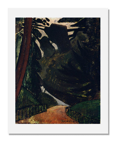MFA Prints archival replica print of Max Weber, Path in the Woods from the Museum of Fine Arts, Boston collection.