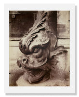 MFA Prints archival replica print of Jean Eugène Auguste Atget, Gargoyle, Louvre from the Museum of Fine Arts, Boston collection.
