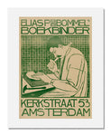 MFA Prints archival replica print of Antonius Henricus Johannes Molkenboer, Poster for Elias van Bommel, Bookbinder from the Museum of Fine Arts, Boston collection.