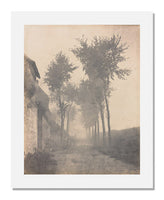 MFA Prints archival replica print of Eugène Cuvelier, Lane in Fog, Arras from the Museum of Fine Arts, Boston collection.
