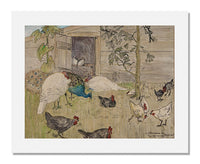MFA Prints archival replica print of Theodorus van Hoytema, Poultry Yard from the Museum of Fine Arts, Boston collection.
