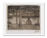 MFA Prints archival replica print of Johannes Theodorus Toorop, Artist sketching along the river from the Museum of Fine Arts, Boston collection.