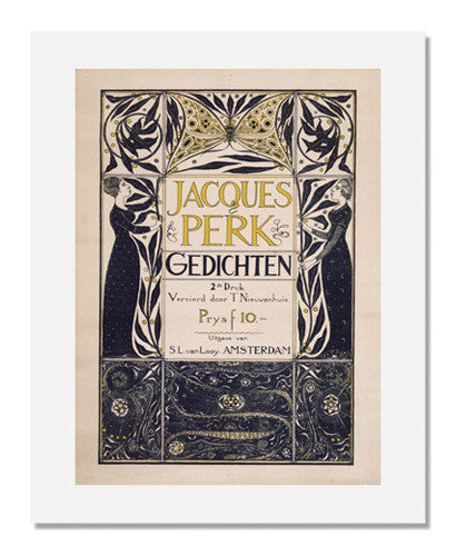 MFA Prints archival replica print of Theodor Willem Nieuwenhuis, Poster for the Poems of Jacques Perk from the Museum of Fine Arts, Boston collection.