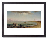 MFA Prints archival replica print of Martin Johnson Heade, Shore Scene: Point Judith from the Museum of Fine Arts, Boston collection.
