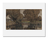 MFA Prints archival replica print of Maurits van der Valk, Canal Lined with Trees from the Museum of Fine Arts, Boston collection.