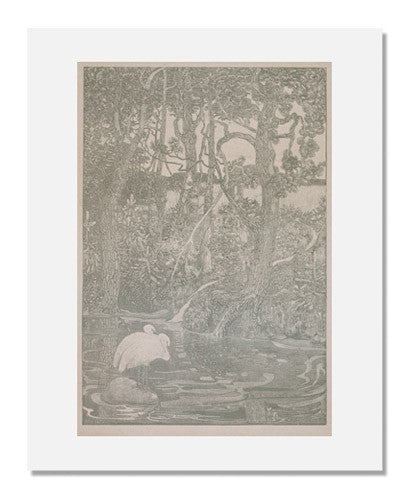 MFA Prints archival replica print of Theodorus van Hoytema, Bosidylle (Woodland Idyll) from the Museum of Fine Arts, Boston collection.