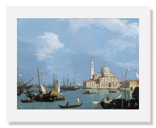 MFA Prints archival replica print of Canaletto, San Giorgio Maggiore: from the Bacino di S. Marco from the Museum of Fine Arts, Boston collection.