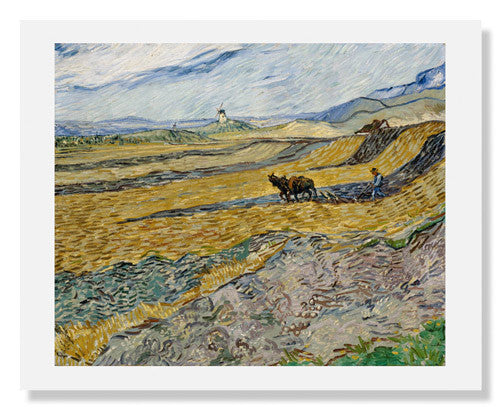 Vincent van Gogh, Enclosed Field with Ploughman