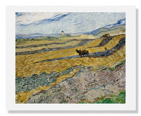MFA Prints archival replica print of Vincent van Gogh, Enclosed Field with Ploughman from the Museum of Fine Arts, Boston collection.