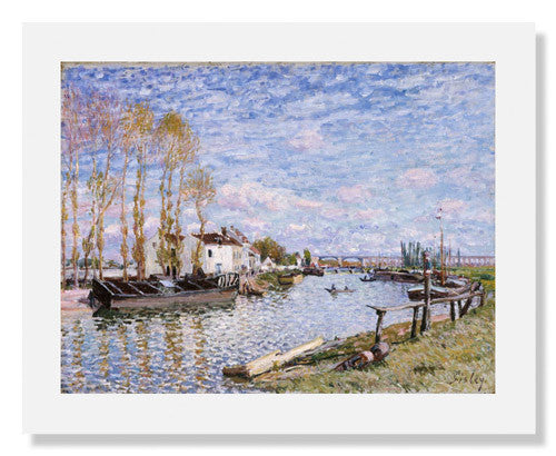 Alfred Sisley, The Loing at Saint Mammès