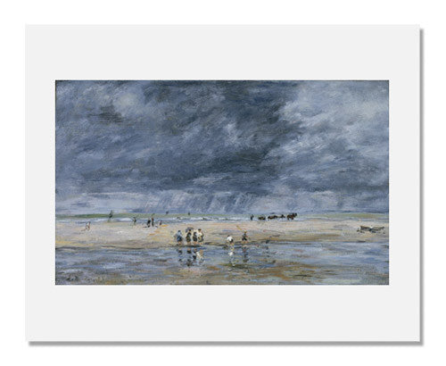 MFA Prints archival replica print of Eugène Louis Boudin, Figures on the Beach from the Museum of Fine Arts, Boston collection.