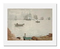 MFA Prints archival replica print of Winslow Homer, Gloucester Harbor from the Museum of Fine Arts, Boston collection.