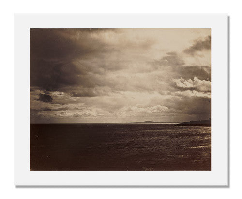MFA Prints archival replica print of Gustave Le Gray,Cloudy Sky The Mediterranean with Mount Agde from the Museum of Fine Arts, Boston collection.