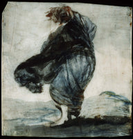 Francisco Goya y Lucientes, Woman with Clothes Blowing in the Wind