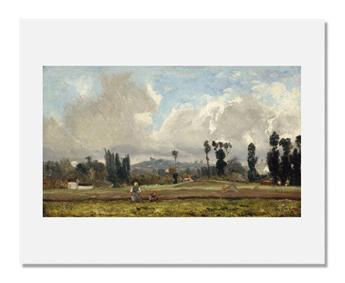 MFA Prints archival replica print of Constant Troyon, Field outside Paris from the Museum of Fine Arts, Boston collection.