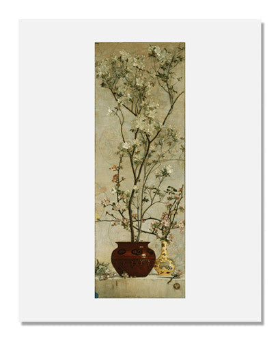 MFA Prints archival replica print of Charles Caryl Coleman, Still Life with Azaleas and Apple Blossoms from the Museum of Fine Arts, Boston collection.
