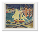 MFA Prints archival replica print of Blanche Lazzell, Sail Boat from the Museum of Fine Arts, Boston collection.