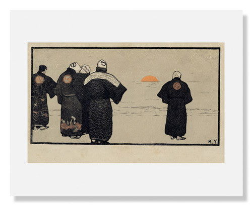 MFA Prints archival replica print of Yamamoto Kanae, Fishermen from the Museum of Fine Arts, Boston collection.