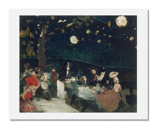 Robert Earle Henri, Café by Night with Japanese Lanterns