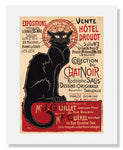 MFA Prints archival replica print of Théophile Alexandre Steinlen, Collection du Chat Noir from the Museum of Fine Arts, Boston collection.