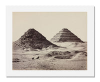 MFA Prints archival replica print of Francis Frith, The Pyramids of Sakkarah from the Museum of Fine Arts, Boston collection.