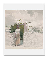 MFA Prints archival replica print of Winslow Homer, Woman Standing by a Gate, Bahamas from the Museum of Fine Arts, Boston collection.