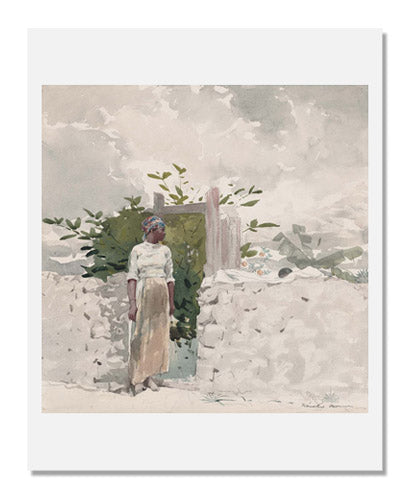 Winslow Homer, Woman Standing by a Gate, Bahamas