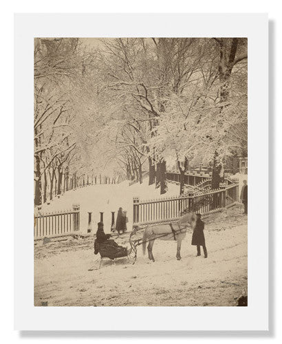 MFA Prints archival replica print of Josiah Johnson Hawes, Snow Scene on the Boston Common from the Museum of Fine Arts, Boston collection.